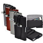 PU Leather Horizontal Belt Holster Case Cover with Earphone For HomTom Models