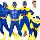 Bananaman Adults Fancy Dress British Cartoon Superhero Mens Ladies Woman Costume