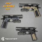 Recover Tactical 1911 Grip w/ Picatinny Rail for 1911 By Models Colors - CC3P