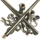 A2 Stainless Allthread Threaded Bar Rod - Choose Stud Connectors, Nuts, Nylocs