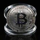 Bitcoin Litecoin Ethereum Coin Ripple Gold Silver Plated Collectible Miner Art V