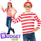 Where's Wally Instant Set Childs Fancy Dress World Book Day Kids Costume Kit New