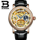 Tourbillon Watch Mens Gold Stainless Steel Automatic Mechanical Skeleton WatchesWristwatches - 31387