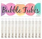 1-144x Wedding Bubbles Tubes Love Heart Design Favour Party Gift Table Decor