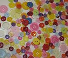 250 Light Weight Craft Buttons flatback ornaments cards bags plastic Spring new