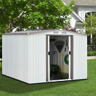 Outdoor Storage Shed Kit Tool Garage Metal Space Saver Lawn Backyard Yard 3 Size