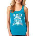 Women Tank Top Red Neck Drinking Racerback Alcohol Crawl Beer Muscle Shirt Gym
