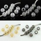 10pcs Mesh Net Round Ball Big Hole Spacer Charm Beads 10mm for European Bracelet