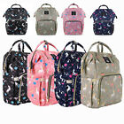 LEQUEEN Mommy Unicorn Diaper Bag Backpack Maternity Nappy  Stroller Hooks