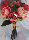 1 Real Touch Pu Peony Bouquet Wedding Bridal Bouquet Home Party Table Decor