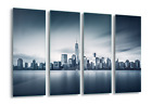 City Manhattan Skyline New York Canvas & Glass Wall Art Pictures (FW-1108)