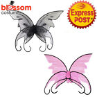 AC278 Ladies Butterfly Costume Angel Fairy Large Wings Nymph Pixie Accessory