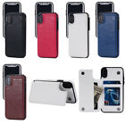 For iPhone X 8 Plus 6 7 Samsung S8 Leather Case Flip Card Holder Wallet Cover
