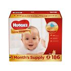 Huggies Little Snugglers Baby Diapers Newborn, Size 1 & 2. Fast Free Shipping