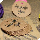 Name 100PCS Gift Thank You Favor Tags Paper Wedding Kraft