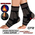 Magnetic Copper Ankle Support Brace Compression Sleeve Joint Fit Foot Men Women $10.48 USD on eBay