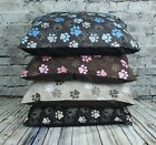 Large & Extra Large Dog Beds & Pads With Removable Paw Print Poly Cotton Covers