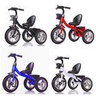 Rubber Air Wheels Easy Assembly Kids Tricycle Childs Steel Trike Frame Ride on