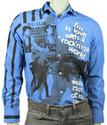 punk Clash Joe Strummer  blue shirt