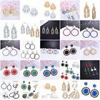 Fashion Female Girl With Elegant Multi Colored Crystal Pendant Earrings Jewelry
