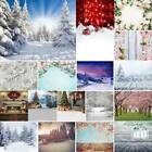US 5x7ft Autumn Winter Snow Forest Tree Flower Photography Backdrops Photo Props