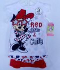 Disney Minnie Mouse Baby Girl 3 Piece Set (Two fashion top/ one short)