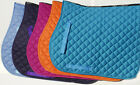Rhinegold Cotton Quilted Horse Saddle Cloth GREAT NEW MATCHING COLOURS £10.75