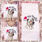 Staffy Towel Set, Personalised Towel Set, Dog Lover Gift