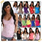 Women's Lace Top Summer Holiday Stretchy Casual Ladies Ves