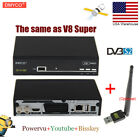 US Stock V8S PRO DVB-S2 Satellite TV Receiver + V8 WIFI Support PowerVu Bisskey