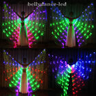 USA LED isis wings rainbow butterfly USB rechargeable belly dance party dress up