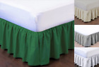 "PLEATED Dust Ruffle Bed Skirt Bedding Bed Dressing Easy Fit Open Corners 14""Drop image"