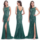 Ever-Pretty Mermaid Green Lace Formal Dresses Bridesmaid Evening Prom Gown 08859