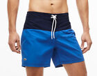 LACOSTE MEN'S LONGBOARD FIT SWIM SHORTS BOARD SHORTS COLOR BLOCK TAFFETA MH7093