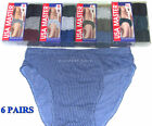 6 Pairs Mens Soft Cotton Low Rise Striped Briefs Underwear Assorted Colors