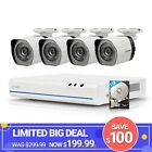 Zmodo 4CH HD NVR 4 720P  IP PoE Outdoor CCTV Home Security Camera System 1TB