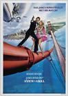 A VIEW TO A KILL JAMES BOND 007 ROGER MOORE VINTAGE CLASSIC MOVIE POSTER £34.99 GBP on eBay