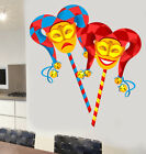 Colourful Theatre Masks Wall Art Vinyl Stickers Jester West End Broadway Decal