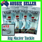 Fishing DIY Hairy Hooks Snapper/ Gummy Flasher Ghost 4/0 5/0 6/0 or 8/0 12-pack