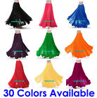 360 Full Circle Skirts Chiffon Long Swing Belly Dance Costume Tribal Maxi Jupe