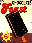 RETRO METAL PLAQUE : CHOCOLAE FEAST sign/ad