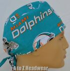Miami Dolphins NFL Football Team Collection Unisex Surgical Scrub Hat Cap