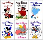 Personalised Handmade Disney Character Inspired Birthday Cards ~ Various Choices