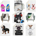 3D Digital Printing Dogs Themed Throw Blanket