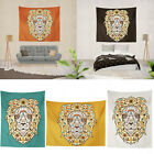 3D Waterproof Tapestry Lion Head Lights Wall Hanging Decorative Home Decor