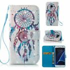 3d Colorful Wind Chimes Dreamcatcher Pu Leather Wallet Case Flip Cover Card Slot
