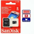 8gb micro sd card with adapter - 08 GB Micro  SD  SDHC Card With Adapter Memory SanDisk 8GB Genuine LOT