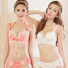 lace crochet sexy push up bra sets padded gather 32-36A/B/C cup ladies underwear