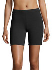 Hanes Womens Jersey Bike Shorts Black or Charcoal Size 2XL XL Large Med Small