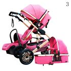 3in1 Baby Pram Pushchair Stroller Car Seat Carrycot Travel System Buggy ~